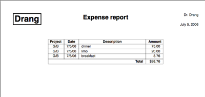 Text file expense reports All this – Generic Expense Report