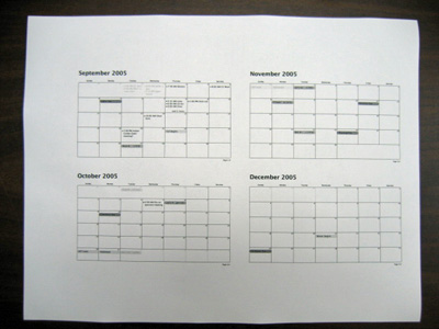 Unfolded HPDA calendar