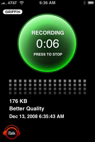 iTalk recording