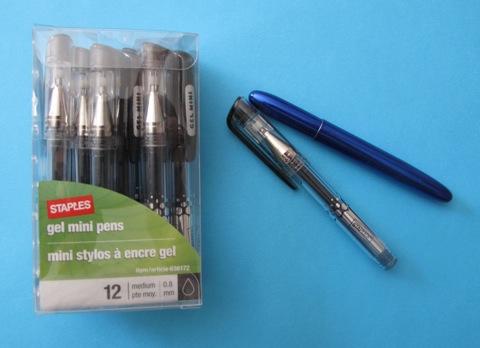 Staples Strata Gel Retractable Pens, Needle Point, Blue, Dozen, 12 Pack (