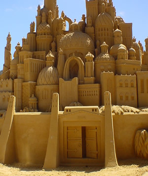 Sand castle photo by G. King