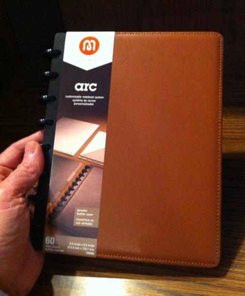 Arc Junior leather notebook