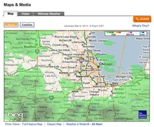 Desktop radar image via NerdTool - All this