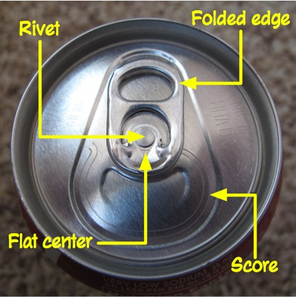 Top of can and pull tab