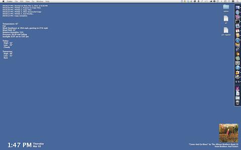 Desktop with NerdTool