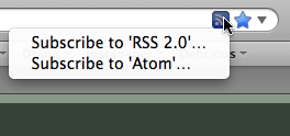 Firefox RSS menu
