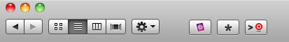 New Finder Toolbar