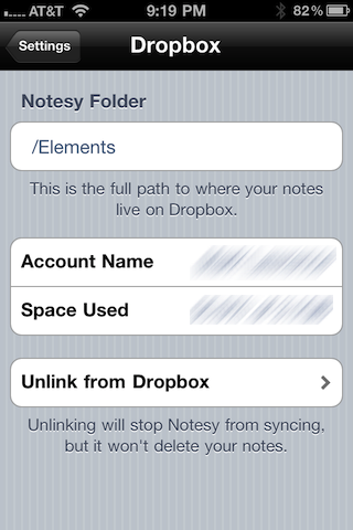 Dropbox syncing preferences
