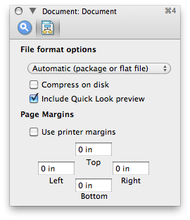 OmniGraffle margin settings