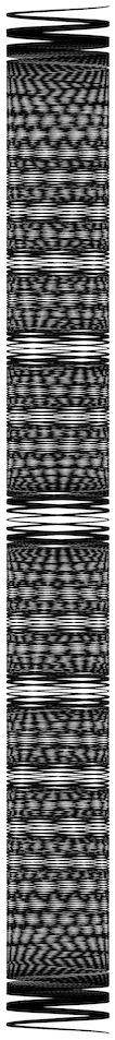 Plot of 15 tuned pendulums