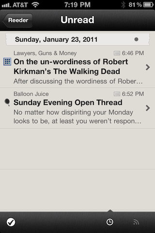 Reeder article list