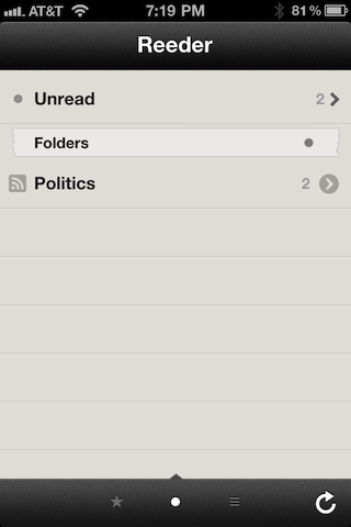 Reeder root screen