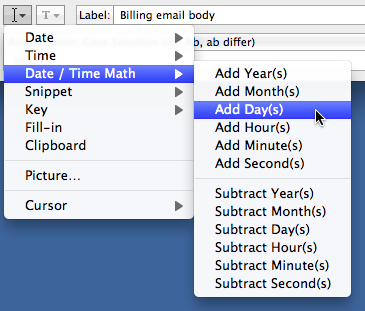 Date/Time Math in TextExpander