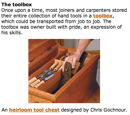 Toolbox article from Fine Woodworking